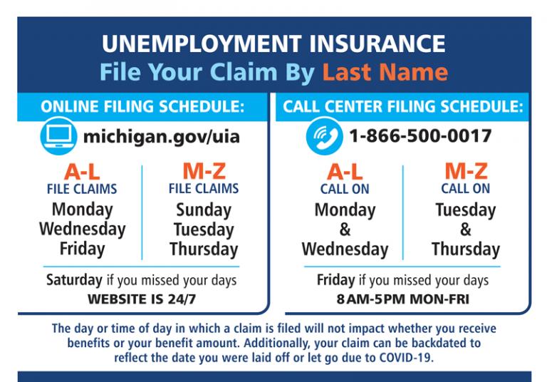 Unemployment insurance schedule