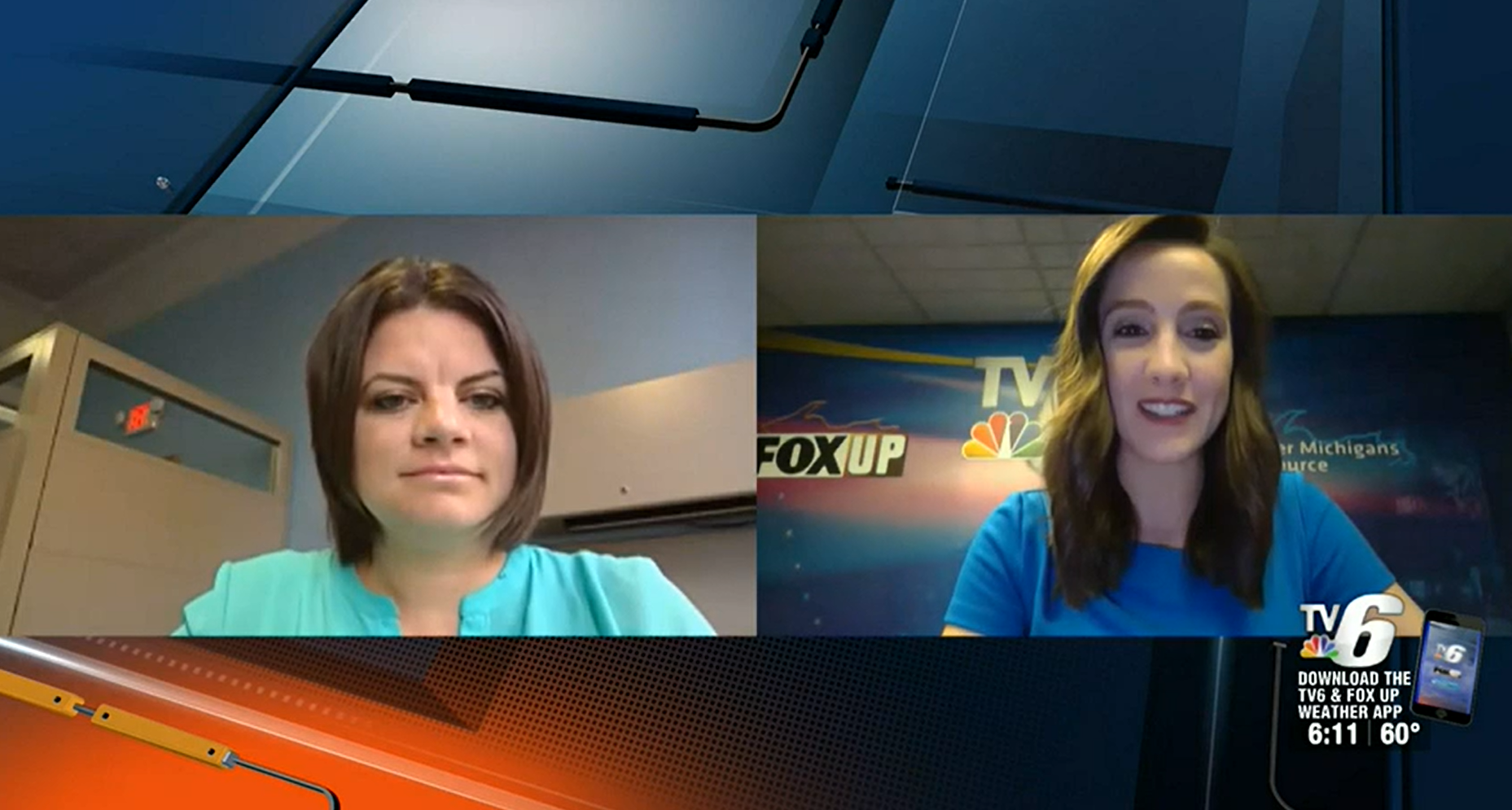 Two women are on the screen side-by-side participating in a virtual interview.